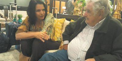 Minou Tavárez fue quien logró que el exmandatario viniera al país. Foto:Gentileza