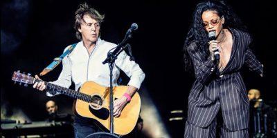 Rihanna acompañó a Paul McCartney en el escenario de Desert Trip