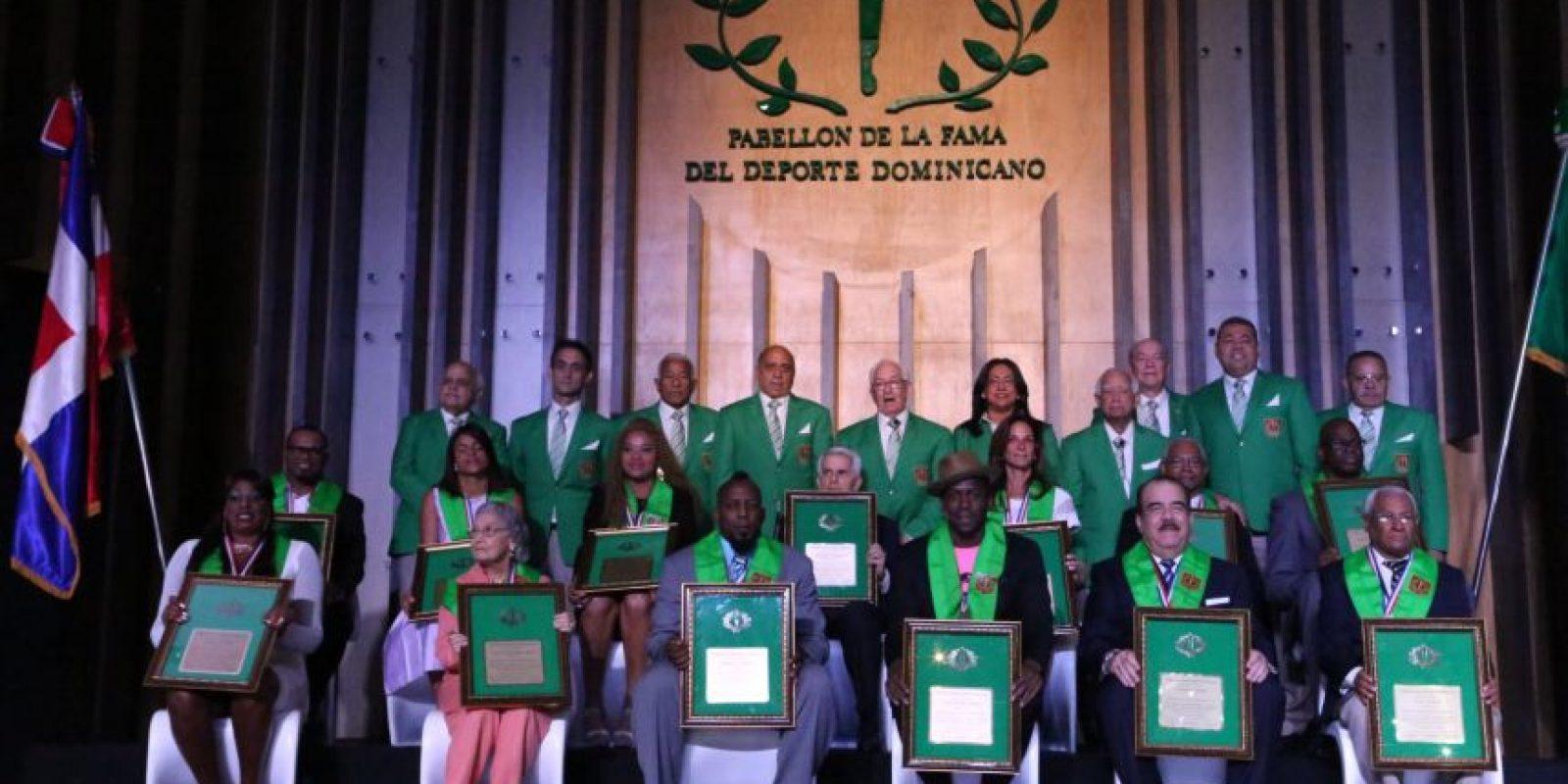 Los nuevos inmortales en la gala celebrada en honor a sus grandes logros en el deporte. Foto:Fuente externa
