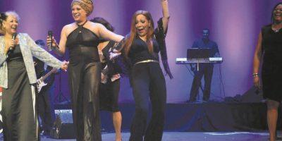 """Diomary """"La Mala"""", junto a Vickiana en la primera edición del concierto. Foto:Fuente externa"""