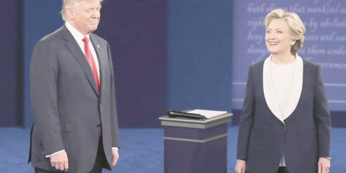Así llegan Clinton y Trump al último debate