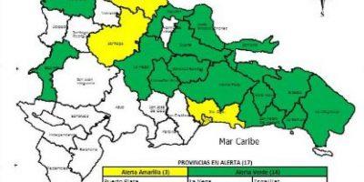 Santo Domingo, Puerto Plata y Santiago siguen en alerta amarilla por lluvias