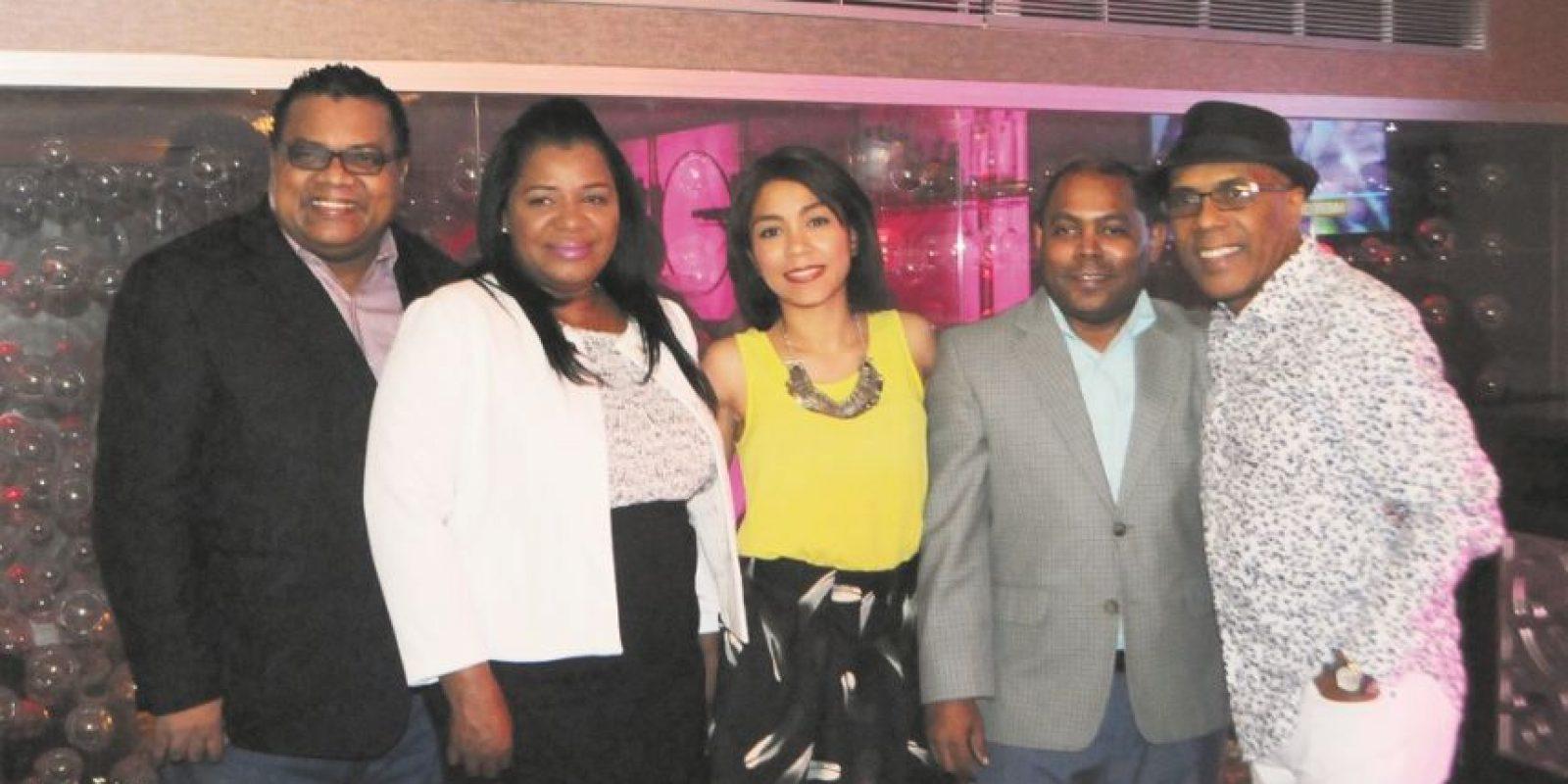 Pochy Familia, Cristina liriano, Evelyn Estrella, Fausto Polanco y Ramón Orlando. Foto:Fuente externa