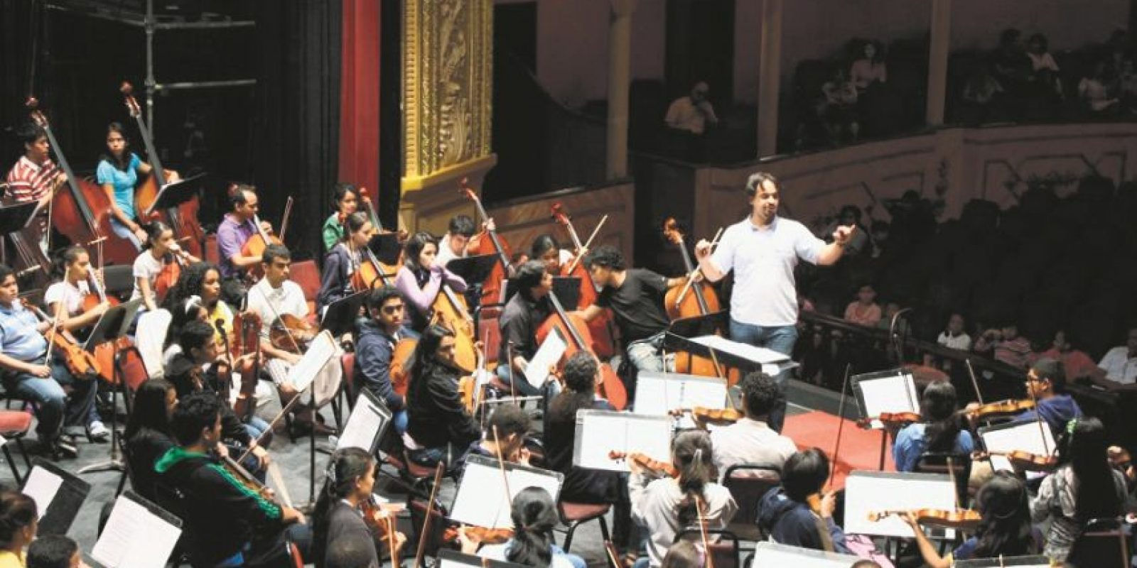 La Sinfónica Juvenil comprende más de 300 alumnos. Foto:Fuente externa