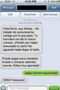De las peores cosas que les pueden pasar: alguien les da su número para que le manden WhatsApp… pero, ¡sorpresa! Se los dio mal. Foto:Facebook