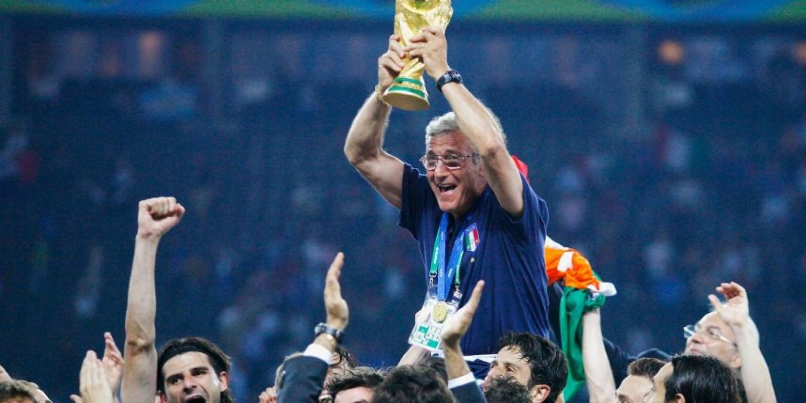 12.-Marcello Lippi (20 títulos): Ganador del Mundial de Alemania 2006 con Italia, el actual técnico de China comenzó su carrera de éxitos en Juventus, donde ganó cinco Serie A, una Copa de Italia, cuatro Supercopa de Italia, una Champions League, una Supercopa de Europa y una Copa Intercontinental. Foto: Getty Images