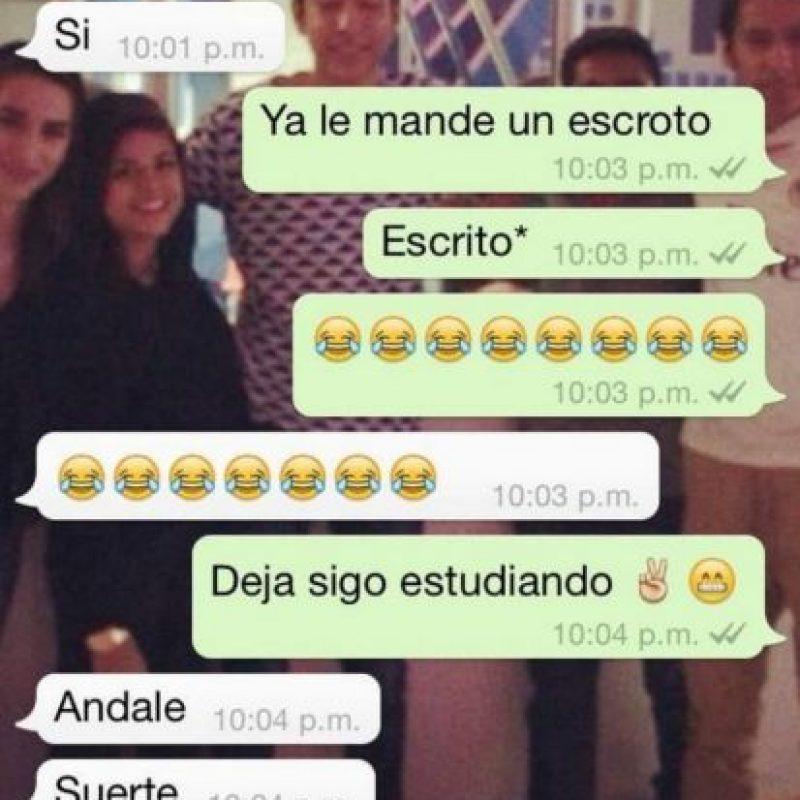 """Cuando el autocorrector los """"trollea"""" en WhatsApp. Foto:Facebook"""