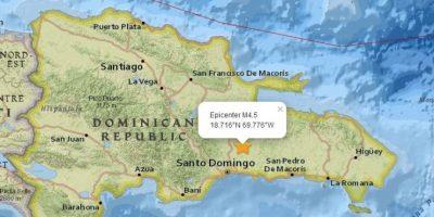 Se registra sismo magnitud 4.5 al sur de Monte Plata