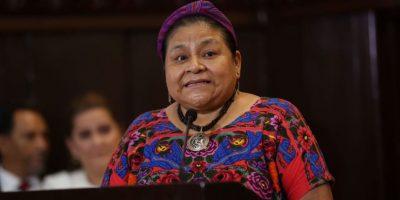Rigoberta Menchú apoya campaña contra la violencia de género en el país