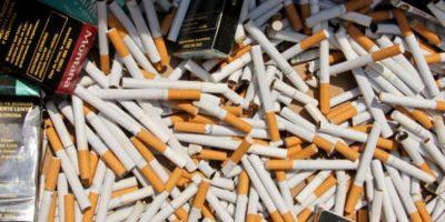 Aduanas destruye 60 millones de cigarrillos de contrabando