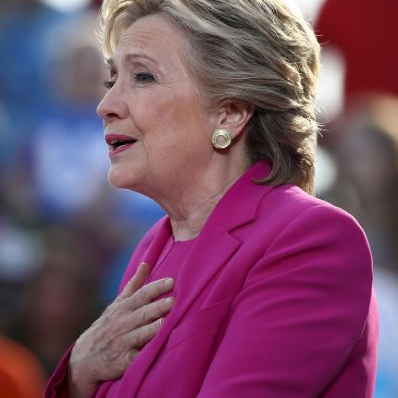 Hillary Clinton, candidata a presidente del Partido Demócrata Foto:Getty Images