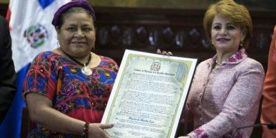Diputados elogian labor  de Rigoberta Menchú