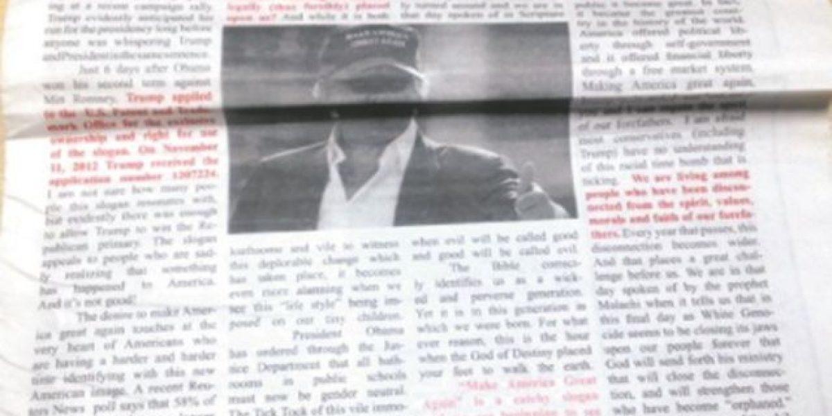 Campaña republicana rechaza artículo del KKK