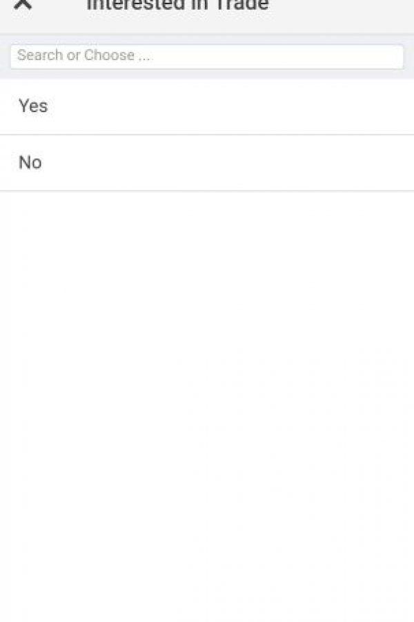 En el registro les pregunta si están interesados en intercambiar su voto Foto:#NeverTrump app