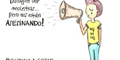 #NiUnaMenos Foto:Twitter.com/jopidibuja