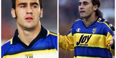 Fabio y Paolo Cannavaro: Compartieron equipo y camarín cuando se encontraron en Parma. Foto:Getty Images