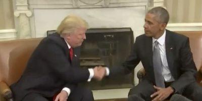 Donald Trump se reunió con el presidente Barack Obama