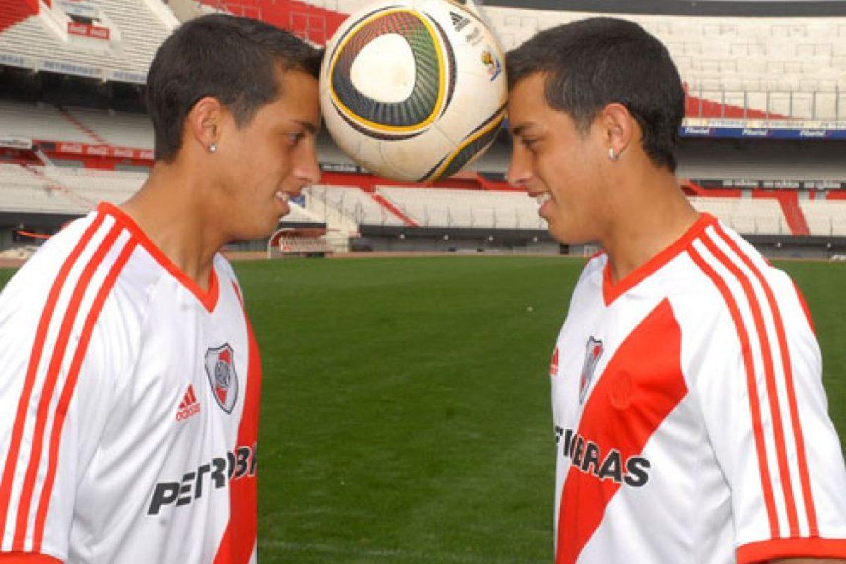 Ramiro y Rogelio Funes Mori: Fueron compañeros en River Plate antes que cada uno diera el salto a Europa.