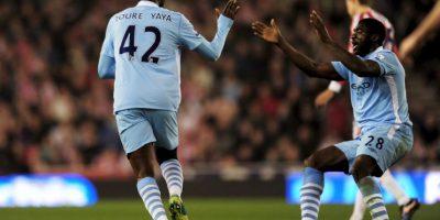 Yaya y Kolo Touré: Encontraron sus caminos en Inglaterra y fue cuando estuvieron juntos en Manchester City. Foto:Getty Images