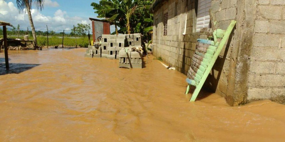Lluvias inundan viviendas en Cabarete y Sabaneta de Yásica