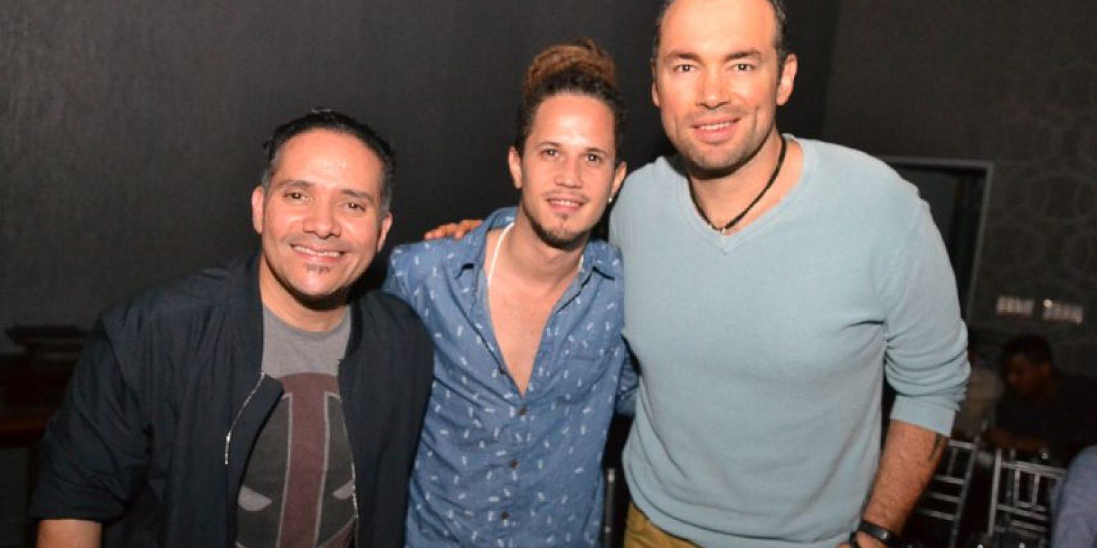 Pavel Núñez, Vicente García y Santiago Cruz Foto:Fuente Externa