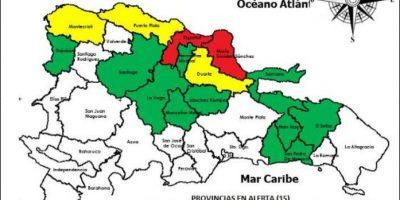 COE sube a 15 provincias en alerta por lluvias, que desplazan 6.495 personas