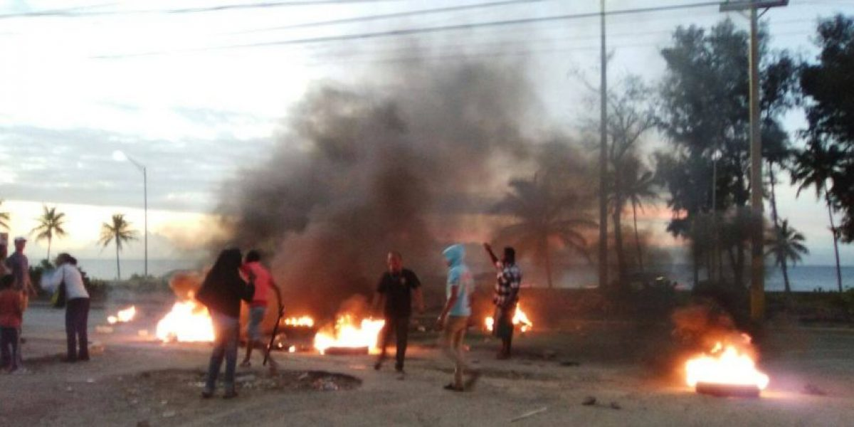 Protestan en marginal Las Américas por prolongados apagones