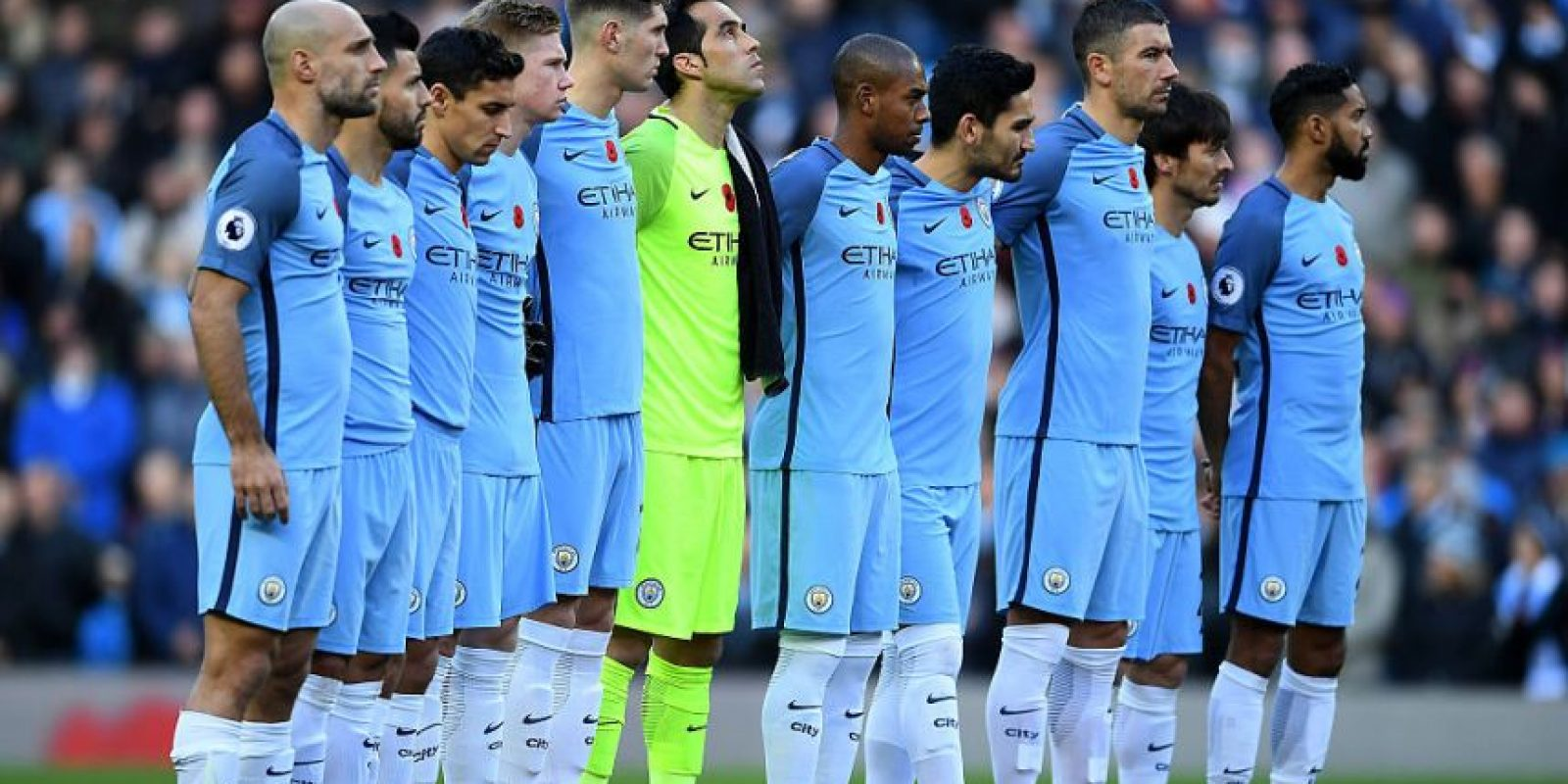 9.- Manchester City (Premier League) – 7,158,462 millones de dólares de sueldo anual en promedio Foto: Getty Images