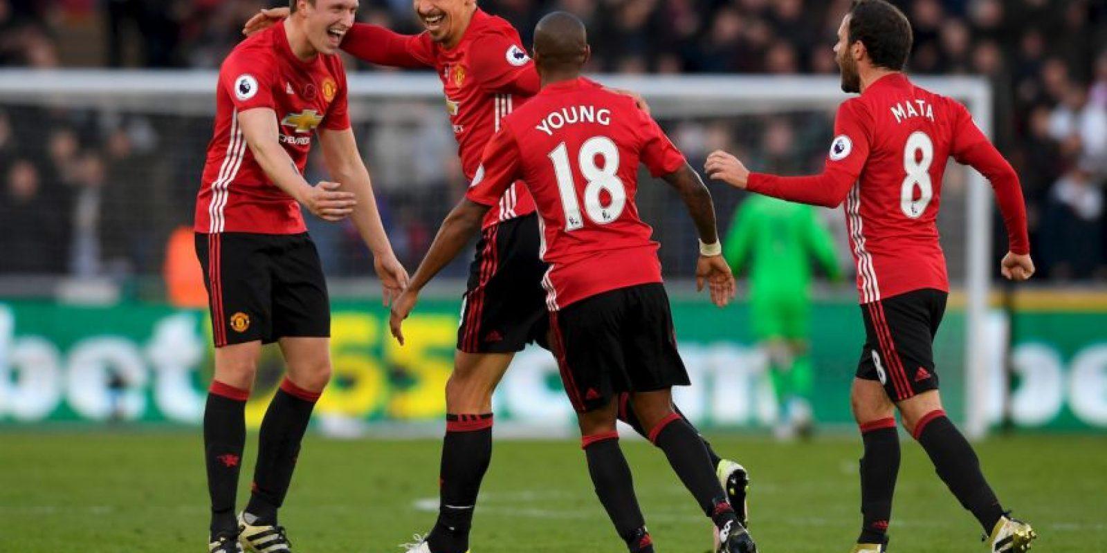4.- Manchester United (Premier League) – 7,616,400 millones de dólares de sueldo anual en promedio Foto:Getty Images