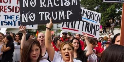 Siguen protestas contra Donald Trump