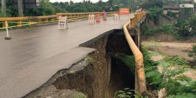 MOPC trabaja en reparación de puente Bajabonico, Puerto Plata