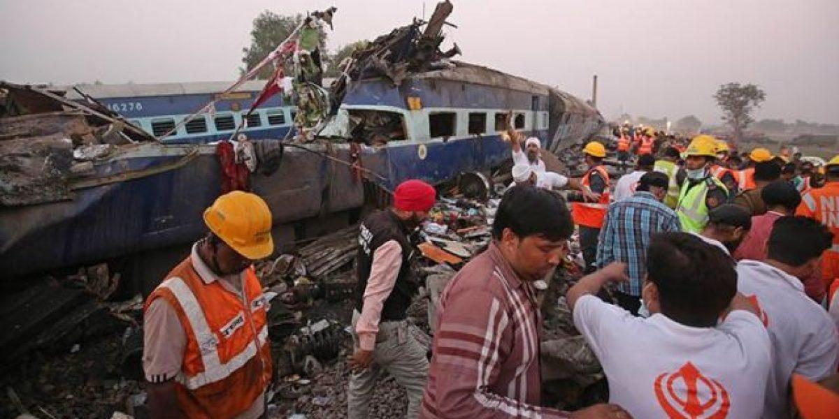 Más de un centenar de muertos en  nueva catástrofe ferroviaria en India