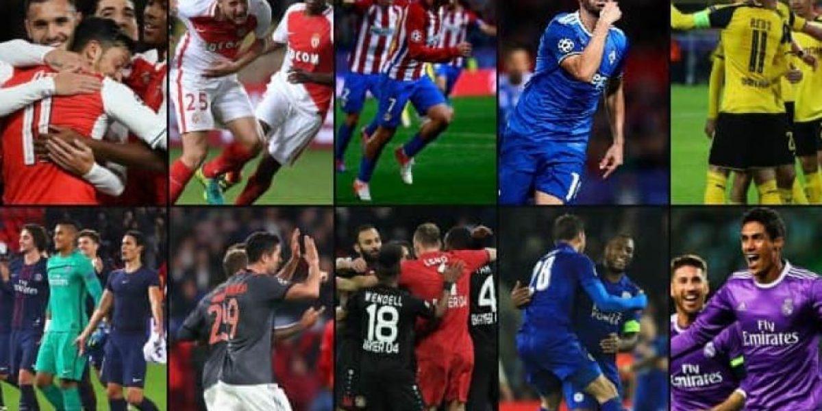 Los equipos clasificados a los octavos de la Champions League