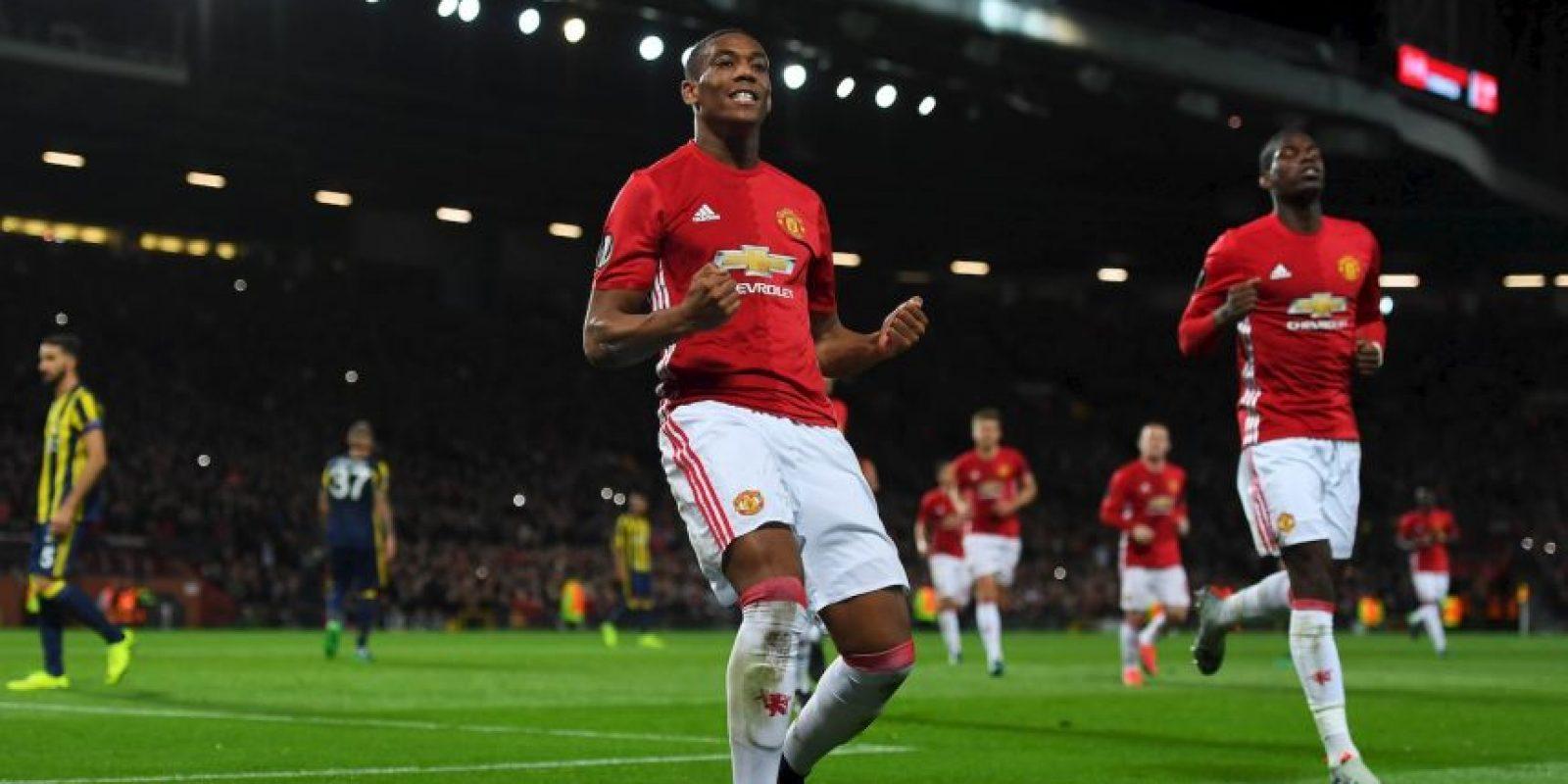 Antonhy Martial (mediocampista por izquierda) – Manchester United Foto:Getty Images