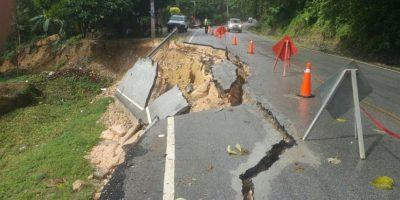 Alertan sobre derrumbe de carretera en Samaná