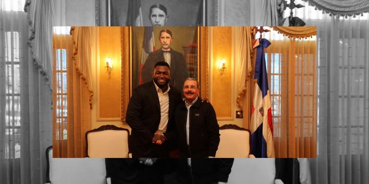 David Ortíz visita al presidente Danilo Medina