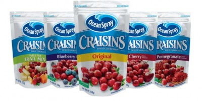 Ocean Spray introduce Craisins Cranberries deshidratados