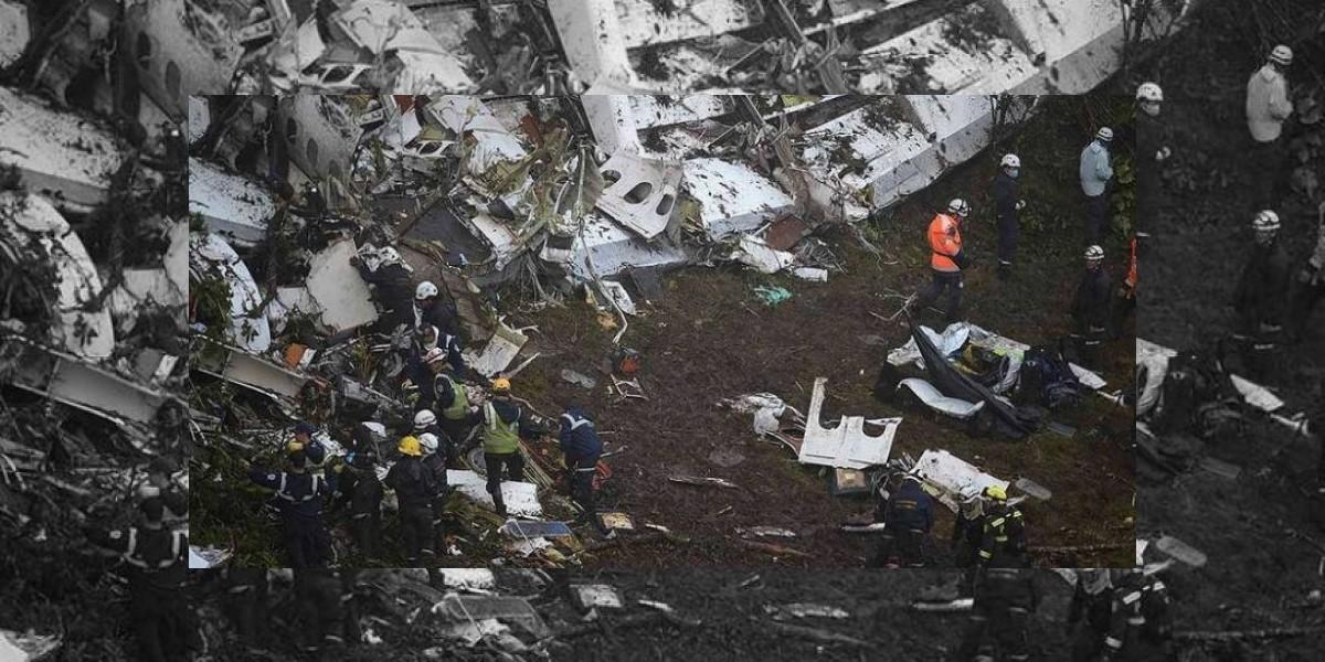 Encuentran cajas negras del avión de Chapecoense accidentado en Colombia