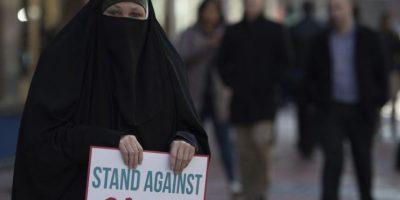 Recordando sus ideas contra la gente de Oriente Medio. Foto:AFP