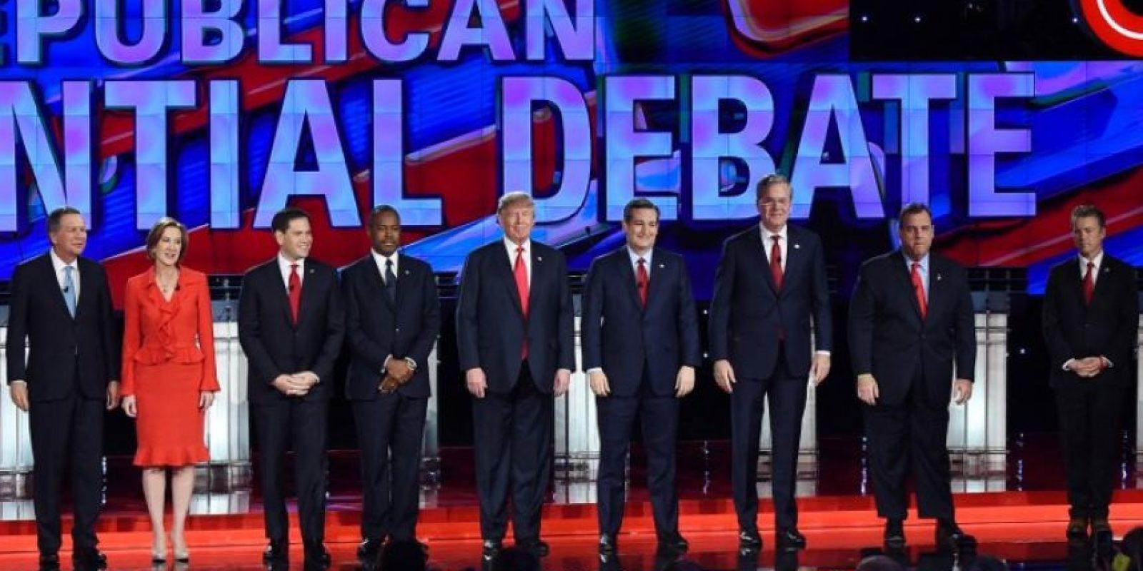 Nueve precandidatos del Partido Republicano estadounidense se enfrentaron el martes en el último debate del año. Foto:AFP