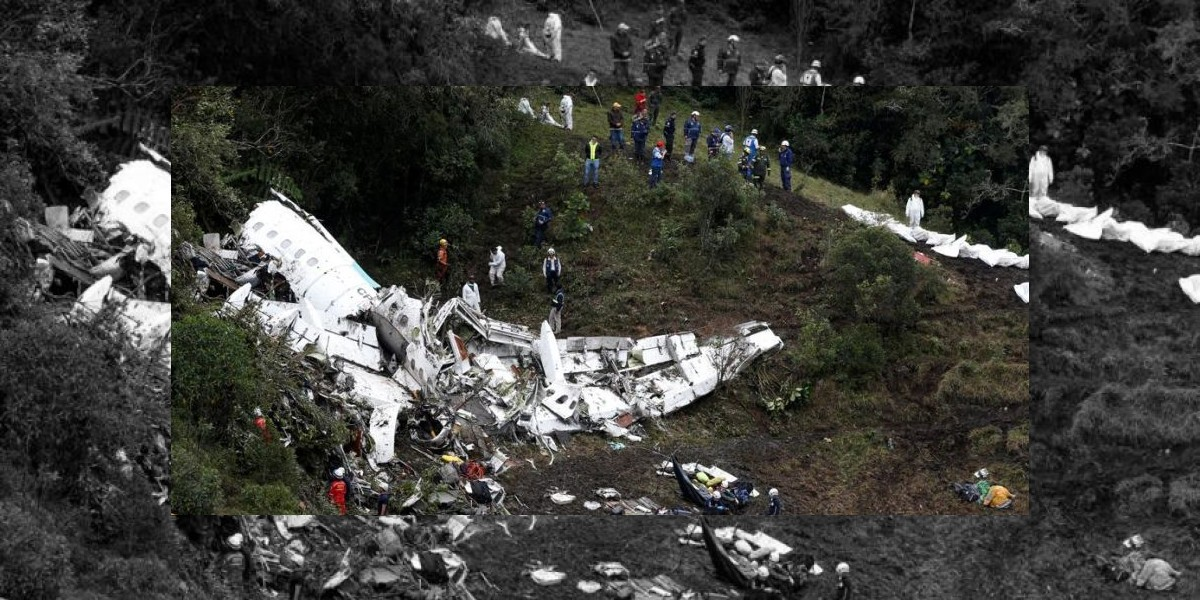 Identifican 27 cadáveres del accidente aéreo de Chapecoense