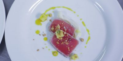 Ensalada de atún estilo tailandés, chef Amar Santana Foto:Fuente externa