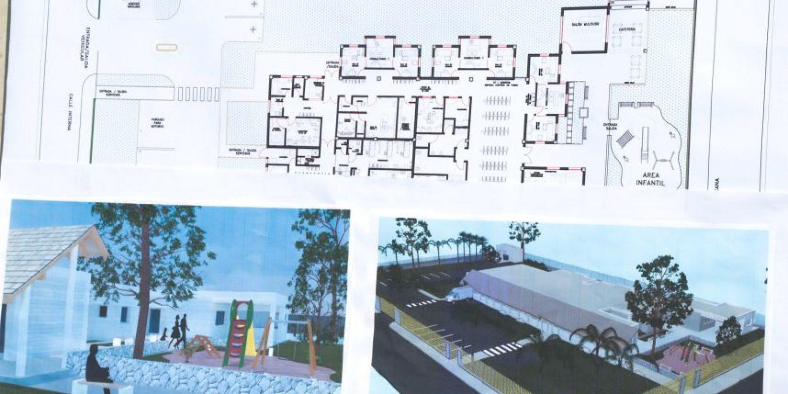 Plano y maquetas del hospital pediátrico que construye la Fundación Puntacana.
