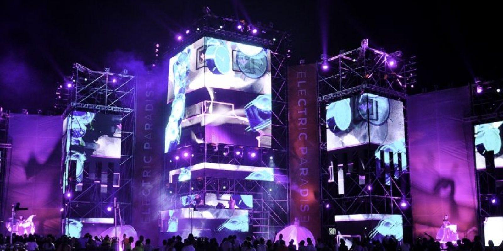 Vista del escenario del espectáculo en 2014. Foto:Fuente externa