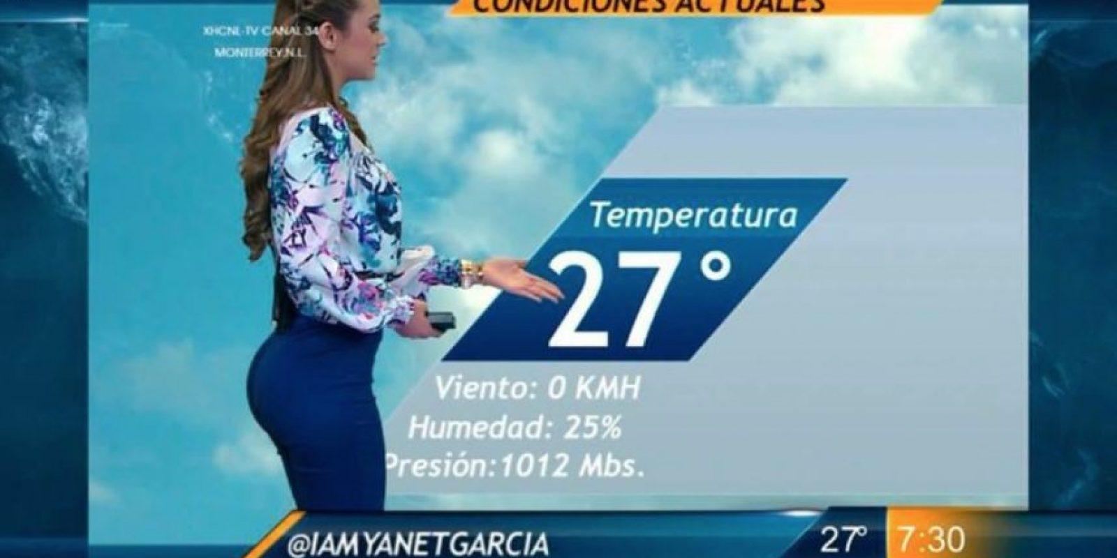 A sus 19 años ya era una de las bellezas del canal de televisión: Televisa Monterrey. Foto:vía facebook.com/yanetgarciapaginaoficial
