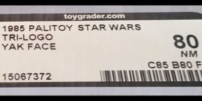 """Incluso a los mega fans de la trilogía original les es difícil reconocer al instante el nombre 'Yak Face'. El personaje de bajo perfil apareció en """"Return of the Jedi"""" y la figura de 1985 fue lanzada justo antes del colapso de toda la línea. Foto:vía ebay.com"""