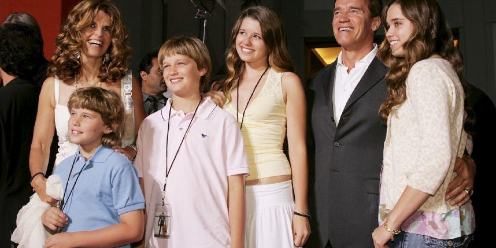 Aunque en 2011, la familia vivió un momento de crisis, cuando María Shriver descubrió que Arnold le había sido infiel y tenía un hijo con su exniñera. Foto:Getty Images