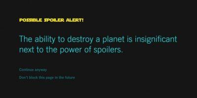 """Así pueden evitar los spoilers de """"Star Wars: The Force Awakens"""""""