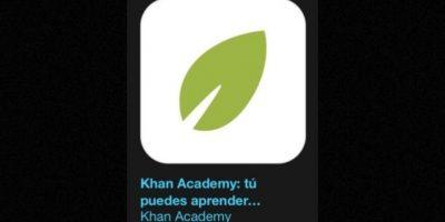 """14- """"Khan Academy: Ustedes pueden aprender cualquier cosa"""". Es gratuita y les permite aprender casi cualquier cosa gratis. Foto:Apple"""