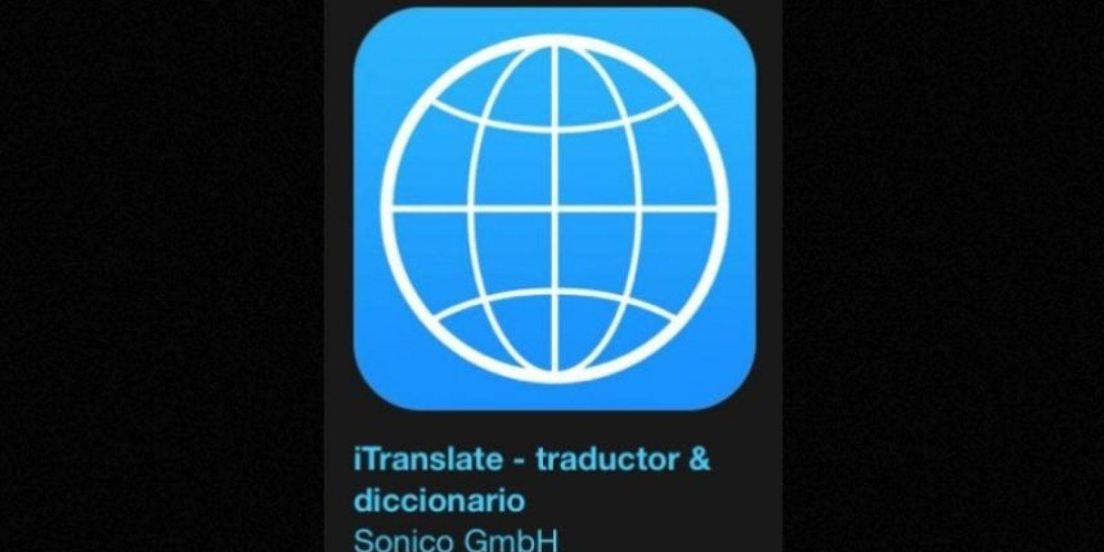 """18- """"iTranslate – traductor & diccionario"""". Es gratuita y se trata de una herramienta de traducción que les ayuda a derribar las barreras idiomáticas. Foto:Apple"""